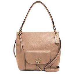 Coach NY Remi Leather Shoulder Purse in Taupe - #1321