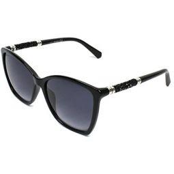 Swarovski SK0148 01B Shiny Black SK0148 Square Sunglasses Lens Category 3 Size