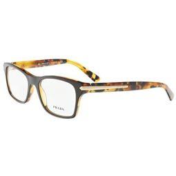 Prada PR16SV Eyeglass Frames UBS1O1-52 - Top Brown/Havana PR16SV-UBS1O1-52
