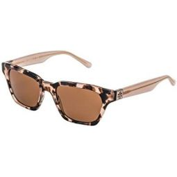Tory Burch 0TY7119 51mm Blush Tortoise/Solid Brown One Size