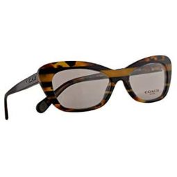 Coach HC 6108 Eyeglasses 50-17-135 Black Amber w/Demo Clear Lens 5440 HC6108