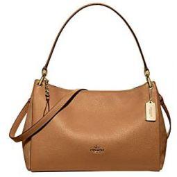 COACH Material Mix w/Refined Pebbled Mia Shoulder Bag