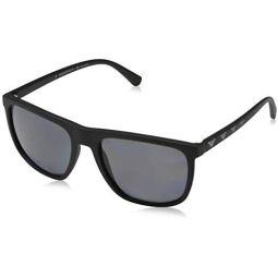 Emporio Armani EA4124 573381 Matte Black EA4124 Square Sunglasses Polarised Len