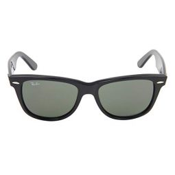Ray-Ban RB2140 901 Wayfarer Sunglasses Black / Green Lens 54mm