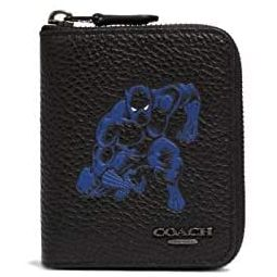 Coach Marvel Medium Zip Around Wallet With Black Panther