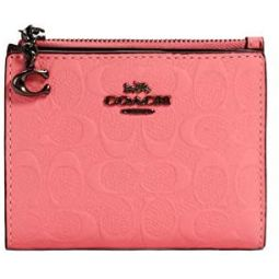 Coach NY Signature Leather Credit Card Wallet - #3306 - Pink Lemonade, Small