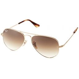 RB3689 Aviator Sunglasses,Gold/Clear Gradient Brown, 58 mm