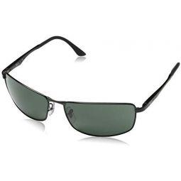 Ray-Ban 0RB3498 직사각형 선글라스