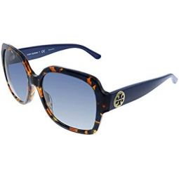 Tory Burch 0TY7140 57 mm Blue Amber Tortoise One Size