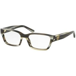 Tory Burch Womens TY2074 Eyeglasses Olive Horn 51mm