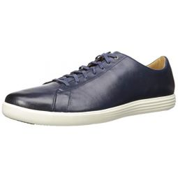 Cole Haan Womens Grand Crosscourt Sneaker, Navy Leather Burnished, 8 W US