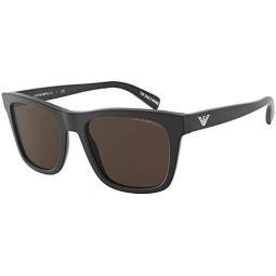 Sunglasses Emporio Armani EA 4142 F Asian fit 504273 Matte Black