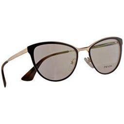 Prada VPR 55T Eyeglasses 52-18-140 Brown Pale Gold w/Demo Clear Lens DHO1O1 PR 55TV PR55TV VPR55T