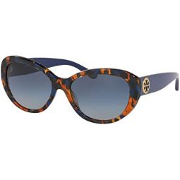 Tory Burch 0TY7136 56 mm Blue Amber Tortoise One Size