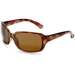 Ray-Ban RB4068 Polarized Sunglasses Havana w/Brown (642/57) RB 4068 642/57 60mm Authentic