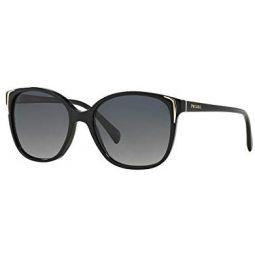 Prada PR01OS 1AB5W1 블랙 PR01OS 나비 선글라스 편광 렌즈 카테고리 3