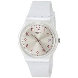 Swatch Essentials Quartz Silicone Strap, White, 16 Casual Watch (Model: GW411): Clothing