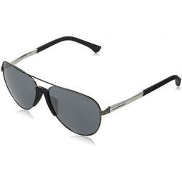 Sunglasses Emporio Armani EA 2059 F Asian fit 30106G Matte Gunmetal