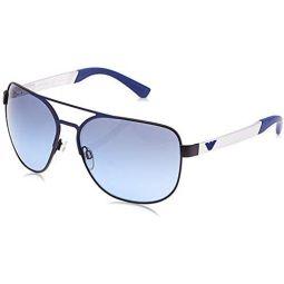 Emporio Armani EA2064 32248F Matte Black/Blue EA2064 Square Pilot Sunglasses