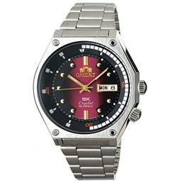 ORIENT Sports SK Retro 70s Automatic Steel Watch with Red Dial RA-AA0B02R