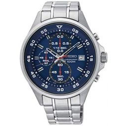 Seiko neo Sports Mens Analog Quartz Watch with Stainless Steel Bracelet SKS625P1