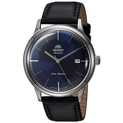Orient 2nd Gen Bambino Version III Japanese Automatic Stainless Steel and Leather Dress Watch