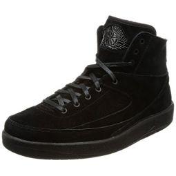 Nike Jordan Mens Retro 2 Decon Basketball Shoes Black/Black