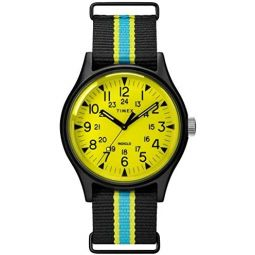 Timex MK1 Steel Quartz Movement Black Dial Mens Watch