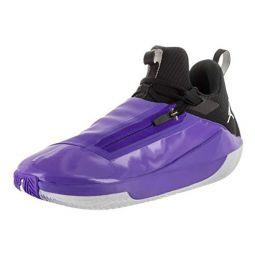 Jordan Mens Jumpman Hustle Basketball Shoes (8, Purple/White)
