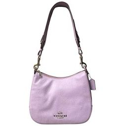 COACH Pebbled Leather Jes Hobo w/Signature Strap
