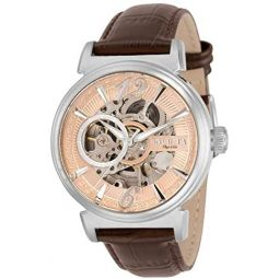 Invicta Objet D Art Automatic Rose Gold Dial Mens Watch 30457
