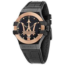 Maserati Potenza Mens Analog Quartz Watch with Leather Bracelet R8851108032