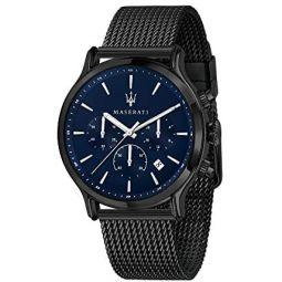 Maserati Mens Epoca R8873618008 Black Stainless-Steel Quartz Dress Watch
