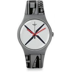 SWATCH Unisex Helikit Quartz 41 mm Watch SUOM107