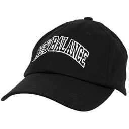 New Balance Mens and Womens Logo 6-Panel Curved Brim Hat