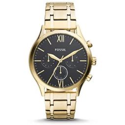 Fossil Fenmore Midsize Multifunction Gold-Tone Stainless Steel Watch BQ2366