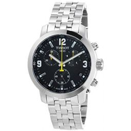 Tissot T-Sport PRC200 Chronograph Mens Watch - Stainless Steel: Tissot: Clothing