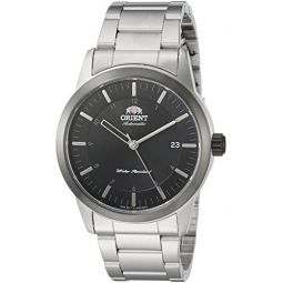 Orient Mens Sentinel Japanese-Automatic Watch with Stainless-Steel Strap, Silver, 22 (Model: FAC05001B0)