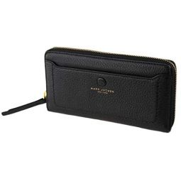 Marc Jacobs Zip Womens Wallet, Leather, Black
