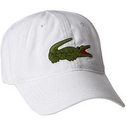 Lacoste Mens Classic Big Croc Gabardine Cap