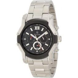 Bulova Mens 98B149 Wintermoor Steel and Black Ion Case Watch