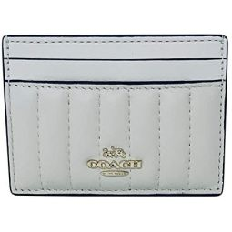 Coach Card Case With Linear Quilting Chalk Style No 2980