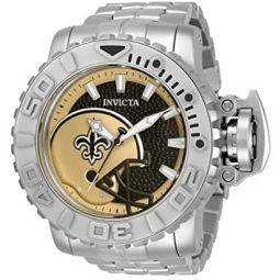 Invicta NFL New Orleans Saints Automatic Black Dial Mens Watch 33025