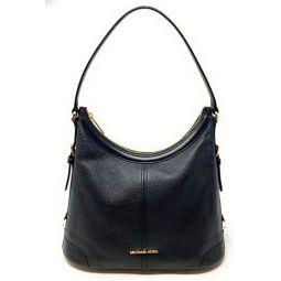 Michael Kors Ginger Large Shoulder Bag Pebble Leather Black
