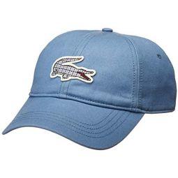 Lacoste Mens Tattersall Big Croc Cap