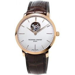 FREDERIQUE CONSTANT MENS SLIMLINE 40MM BROWN AUTOMATIC WATCH FC-312V4S4