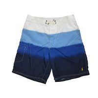 RALPH LAUREN Polo Mens Stripe Dye Swim Board Shorts Blue