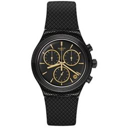 Swatch st. Steel Quartz Rubber Strap, Black, 21 Casual Watch (Model: YVB408)