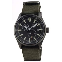 ORIENTDefender 2 Sports Automatic Black IP Military Green Nylon Watch RA-AK0403N