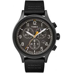 Timex Allied Chrono Leather Black/Black One Size